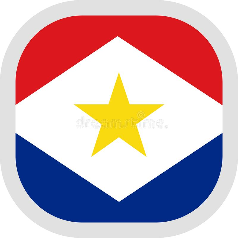 Icon square shape with Flag stock illustration