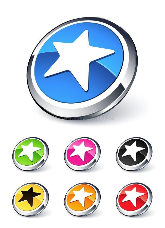Download Icon star stock vector. Illustration of modern, orange - 11934871