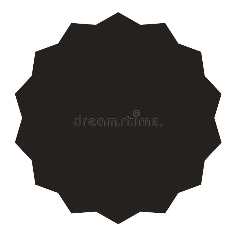 icon of starburst sunburst badge label sticker black on white rh dreamstime com starburst vector free starburst vector art free