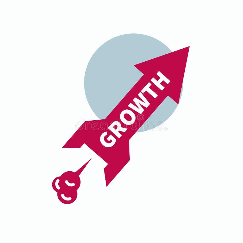 Icon start up, growth royalty free illustration