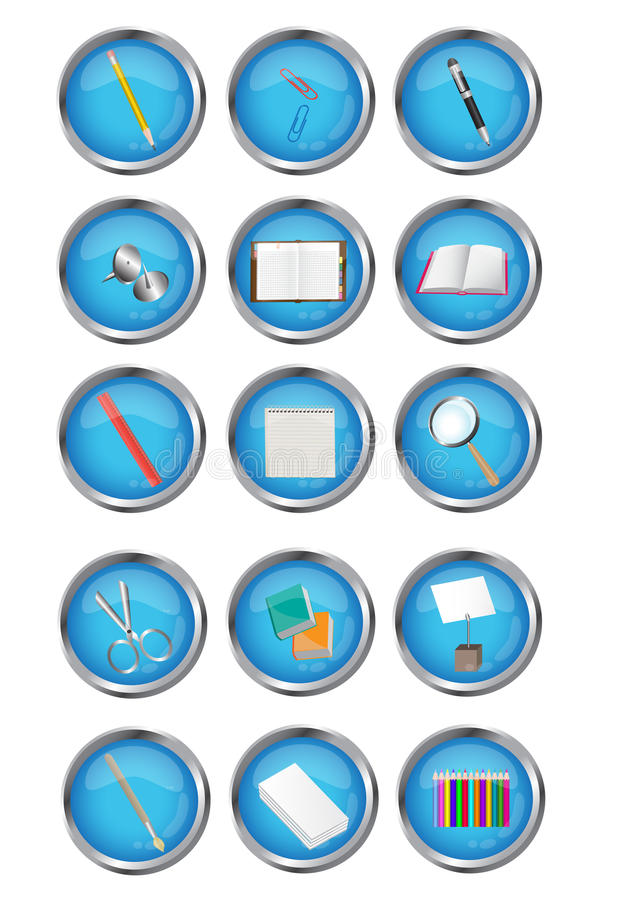 Download Icon of stationery stock vector. Image of internet, element - 26163263