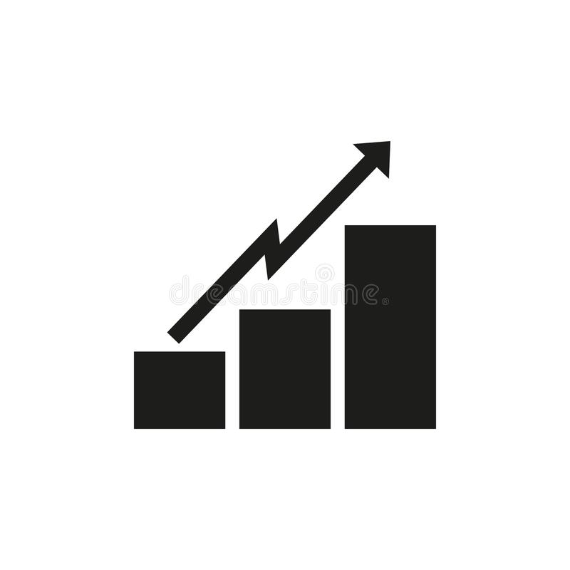 Icon statistics. Vector illustration. royalty free illustration
