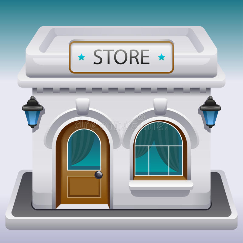 Icon of a store or cafe vector illustration