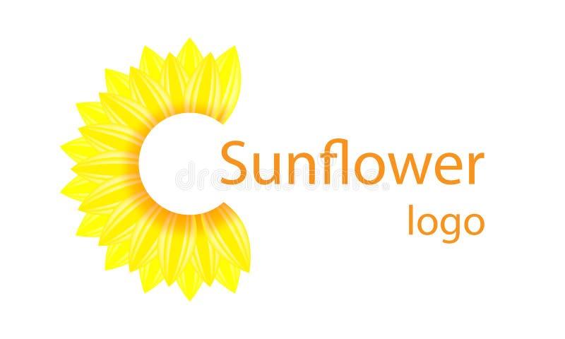 Icon  Sunflower logo stock illustration