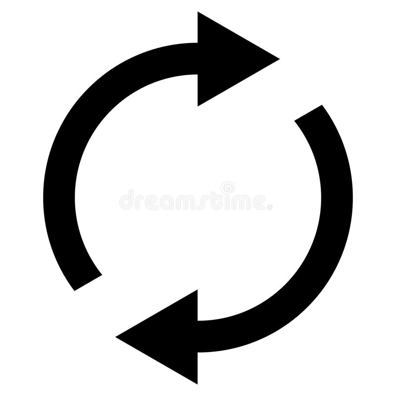 Icon swap resumes, spinning arrows in circle, vector symbol sync, renewable product exchange, change renew vector illustration