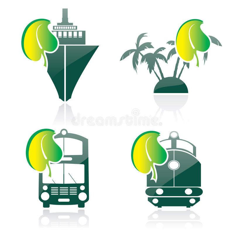 Icon on a theme ecology. Silhouettes on a theme ecology vector illustration