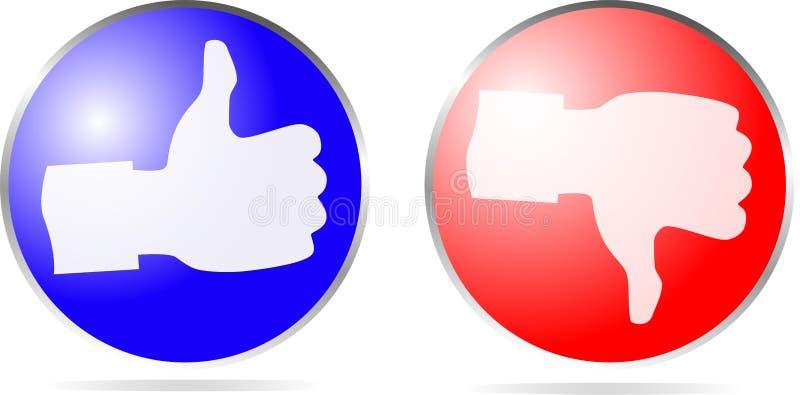 Icon thumb up and thumb down vector illustration