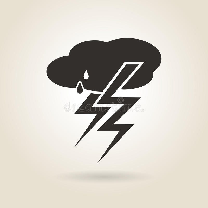 Free Icon Thunderstorm Royalty Free Stock Images - 55772979
