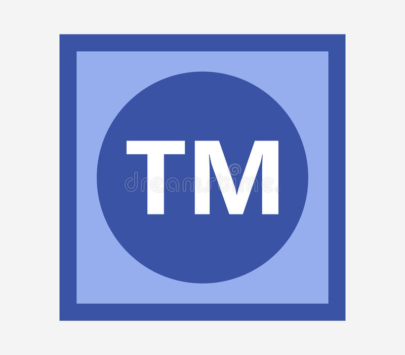 Icon trademark illustrated. On white background stock illustration