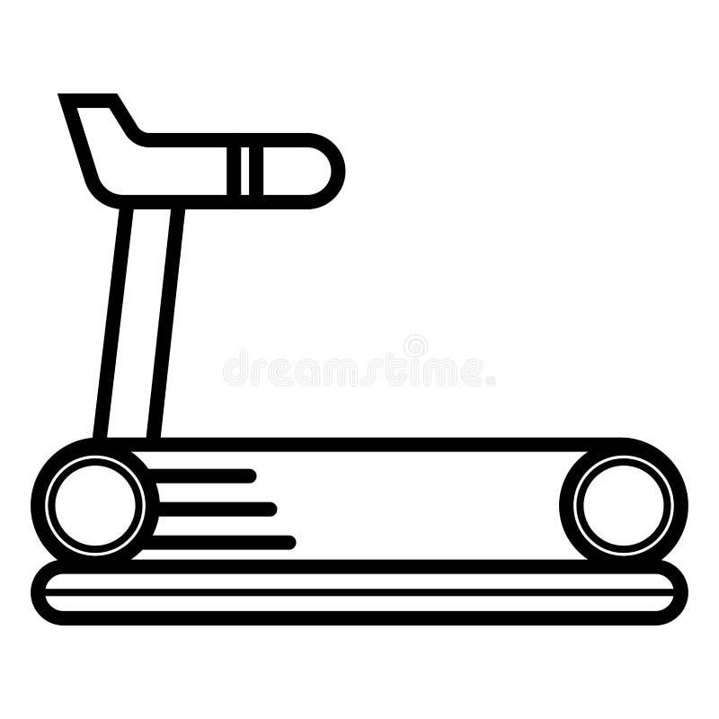 Icon trainer treadmill. Vector. Illustration royalty free illustration