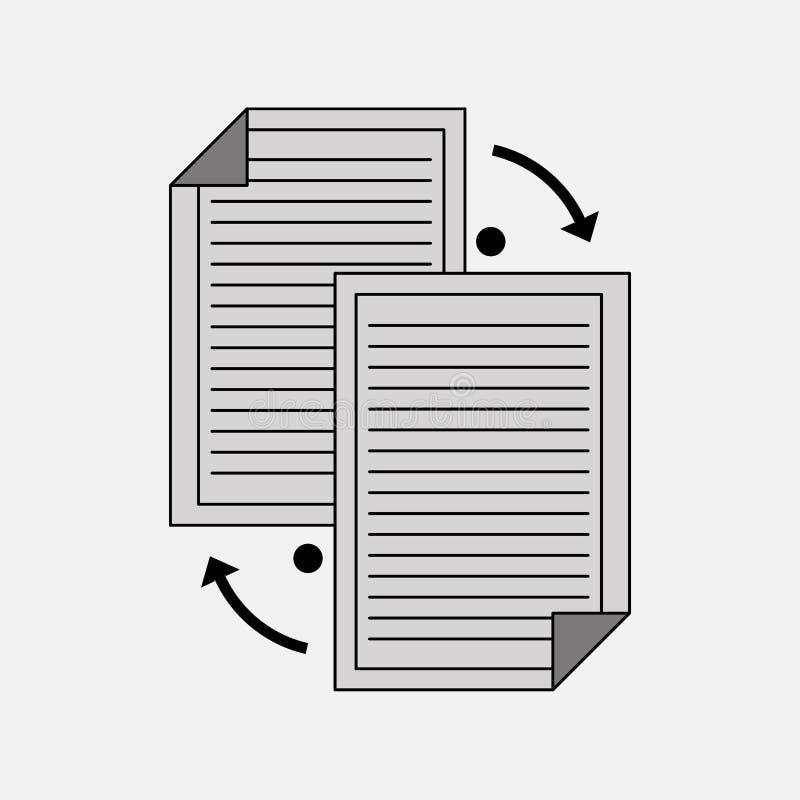 Icon transfer, data sharing. Fully editable image stock illustration