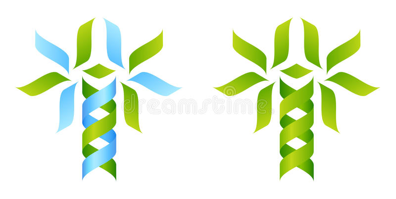 Icon Tree DNA Concept stock illustration