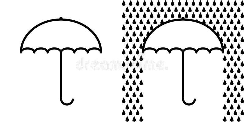 Icon umbrella sign, protection from rain, vector symbol open umbrella vector illustration