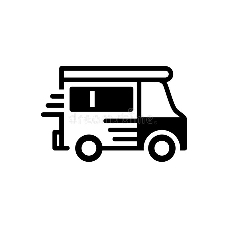 Black solid icon for Van, vehicle and conveyance. Black solid icon for Van, carriage, motor, transportation,  vehicle and conveyance royalty free illustration