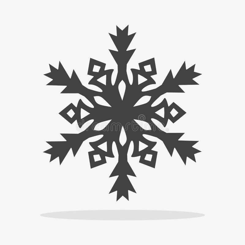 icon vector snowflake flat stock image