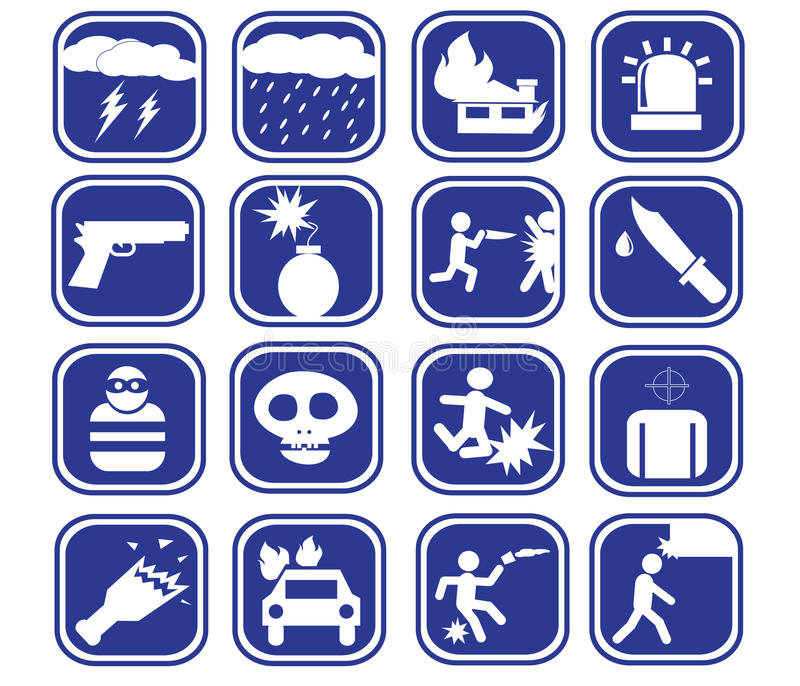 Download Icon Of A Vector Violent Set Stock Vector - Image: 39947364