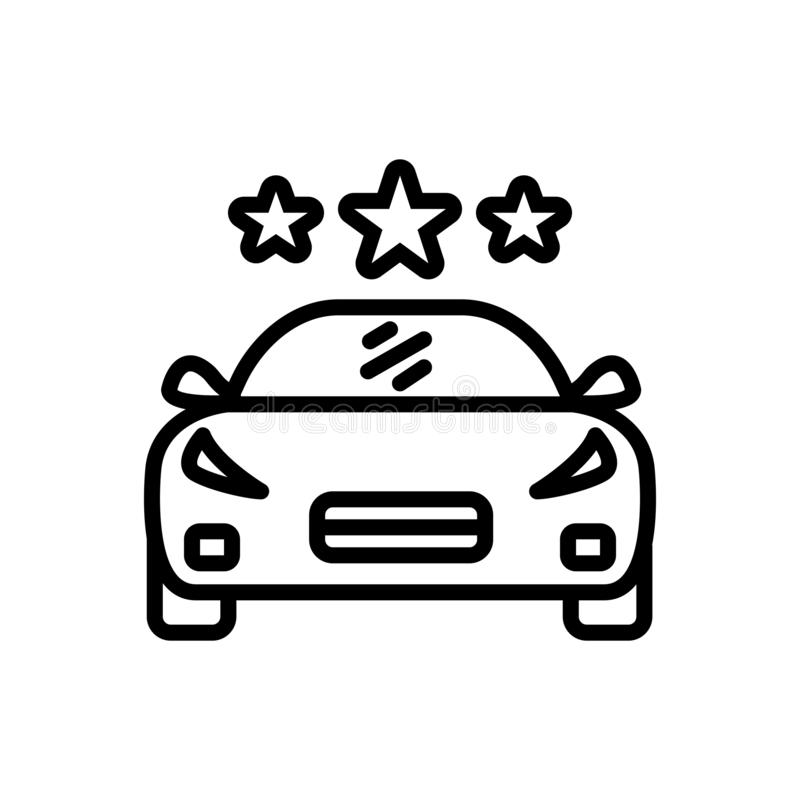 Black line icon for Vehicle, conveyance and carriage. Black line icon for vehicle, transportation, car, logo,  conveyance and carriage vector illustration