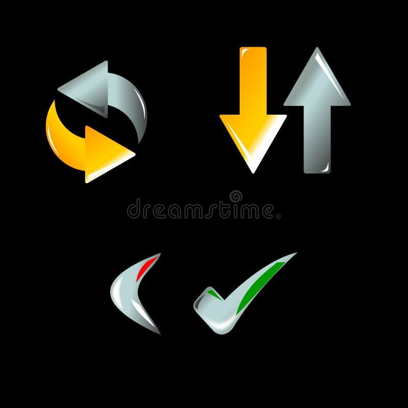 icon web иллюстрация штока