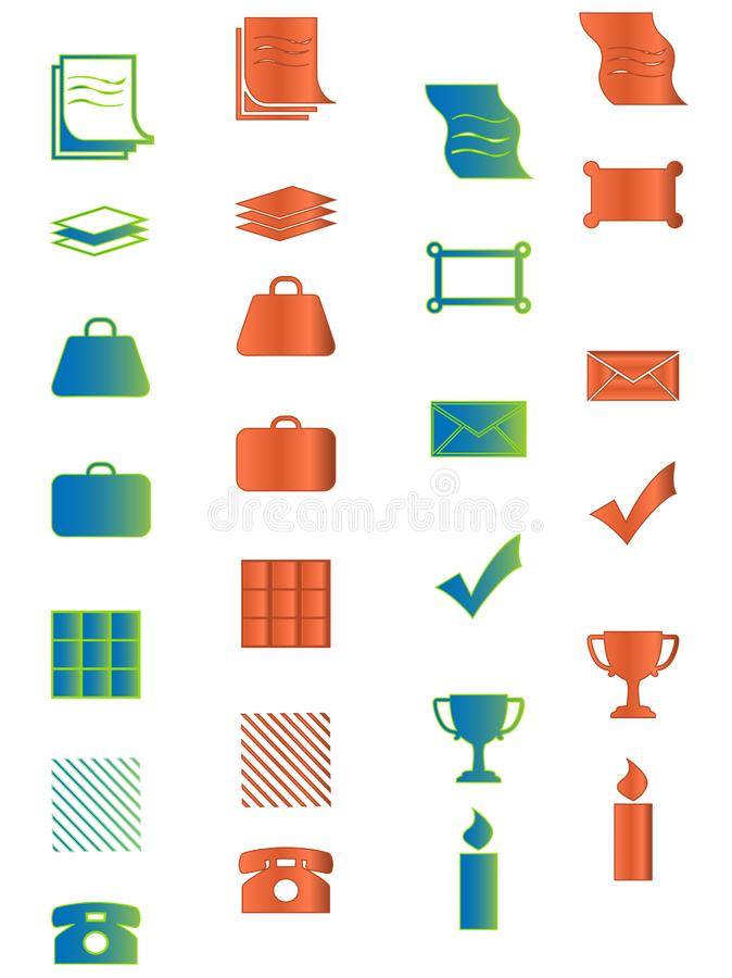 Download Icon For Web, Office, Business And Organizer Prese Stock Vector - Illustration: 8791532