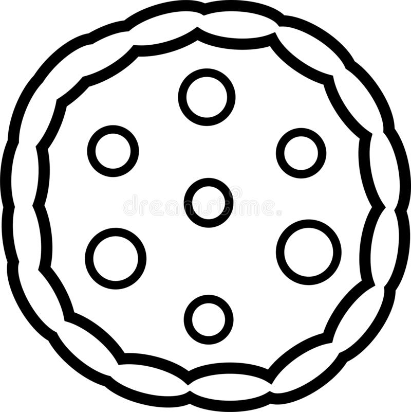Icon of whole pizza with tomatoes and cheese vector illustration