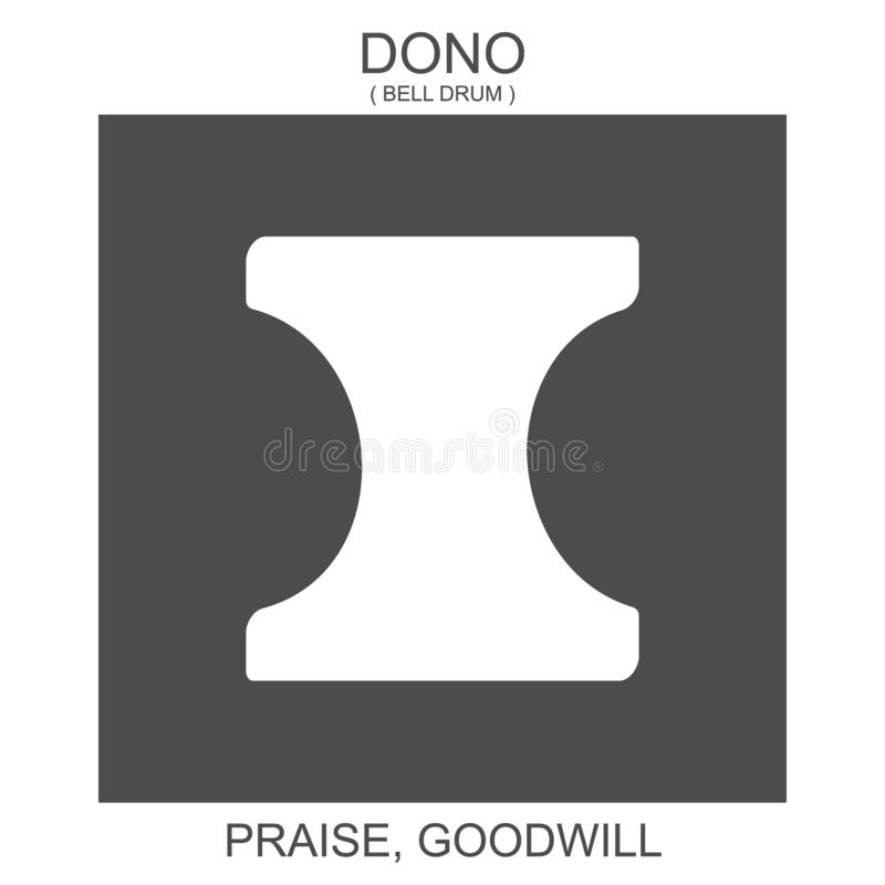 Free Icon With African Adinkra Symbol Dono. Symbol Of Praise And Goodwill Royalty Free Stock Images - 195318829
