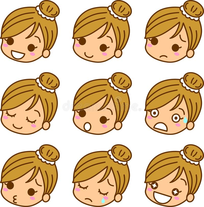 Download Icon of women's expression stock illustration. Image of angry - 22441289