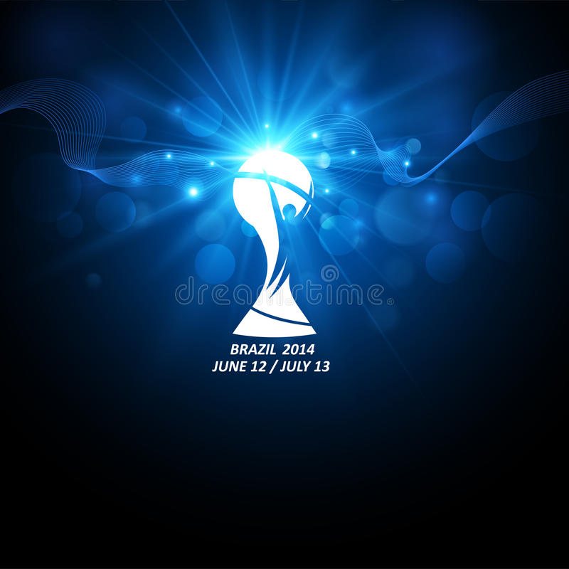 Icon world football cup. Vector royalty free stock images