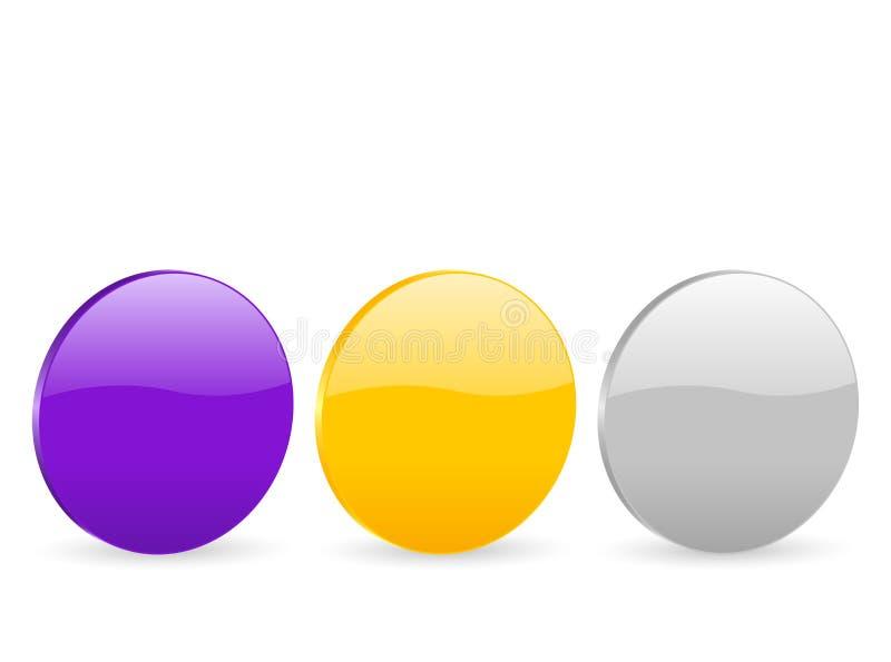 icona 2 del cerchio 3d illustrazione vettoriale