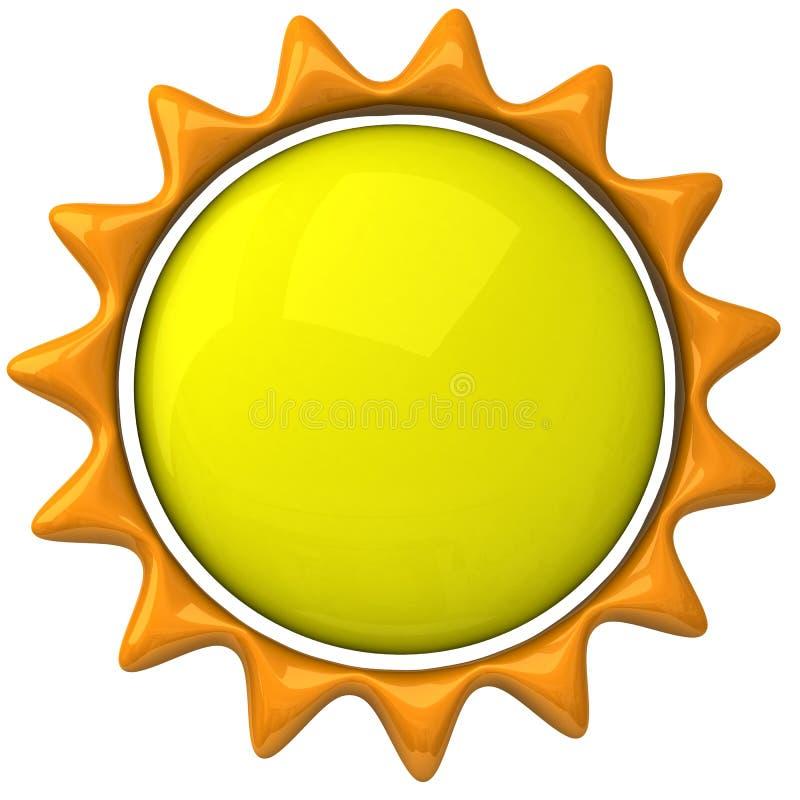 Icona 3d di Sun illustrazione di stock