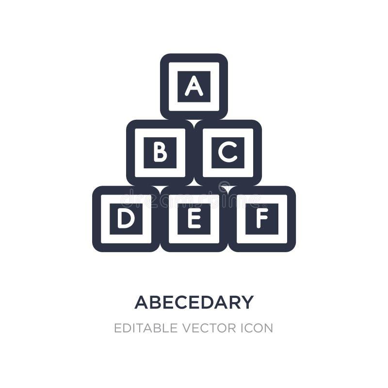icona abecedary su fondo bianco Illustrazione semplice dell'elemento dalla segnalazione del concetto illustrazione vettoriale