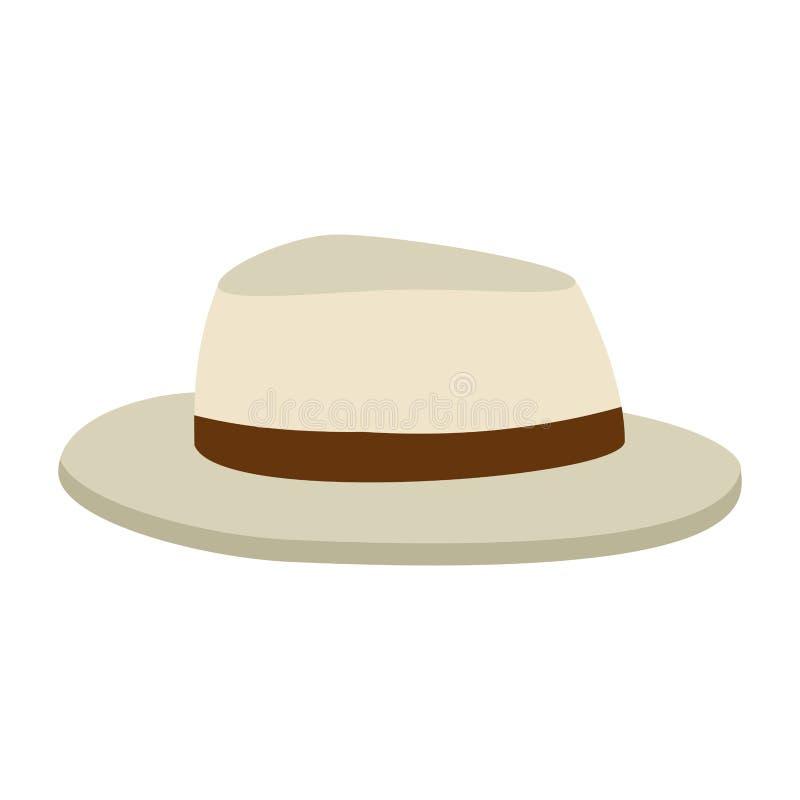Icona accessoria di estate del cappello royalty illustrazione gratis