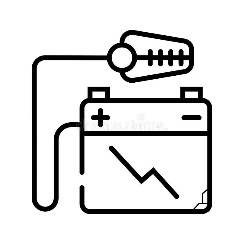 Icona accumulatore per di automobile illustrazione di stock