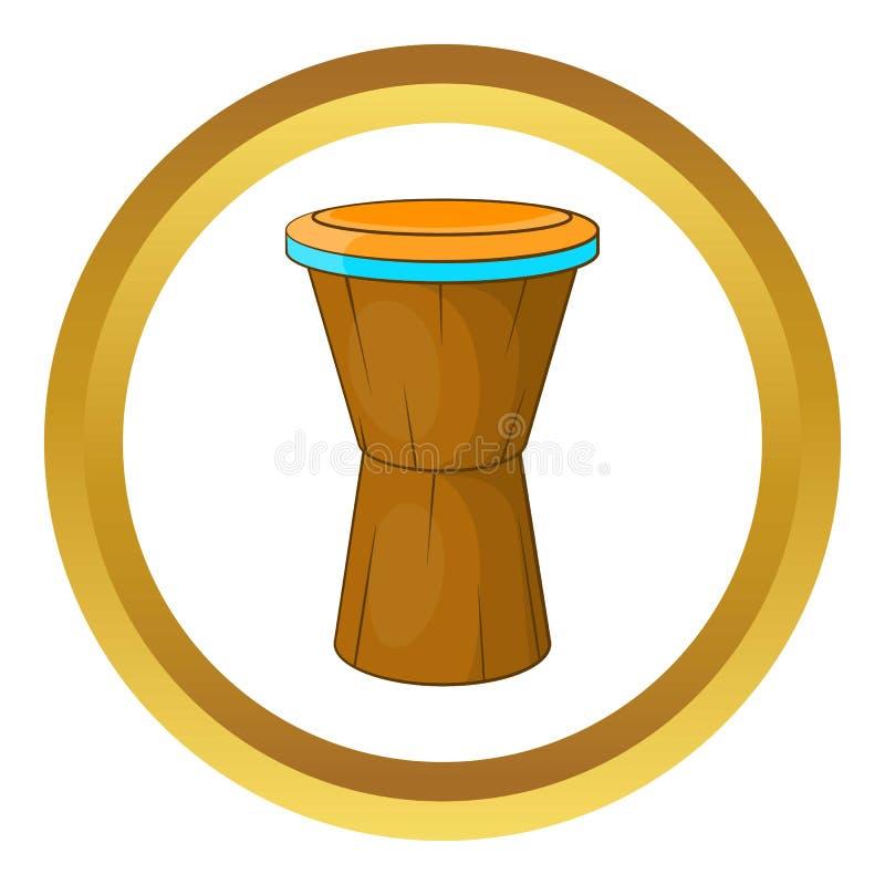 Icona africana del tamburo royalty illustrazione gratis