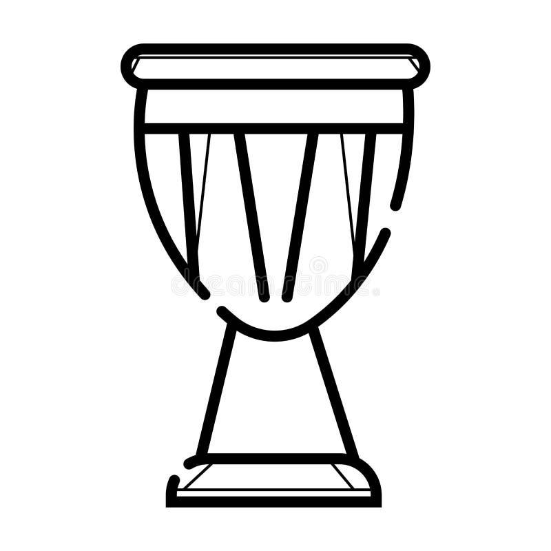 Icona africana del tamburo illustrazione di stock