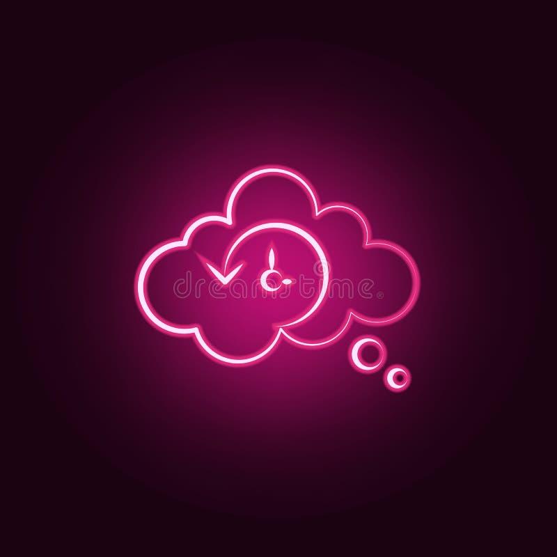 Icona al neon di prescienza Elementi dell'insieme pazzo di scienza E illustrazione vettoriale