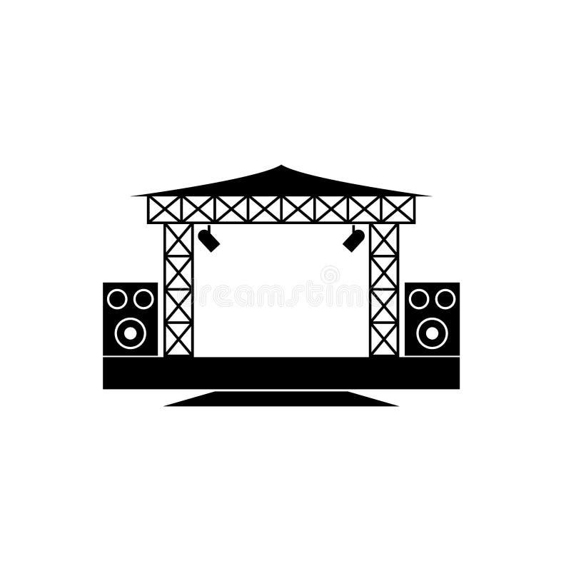 Icona all'aperto di vettore della fase di concerto illustrazione di stock