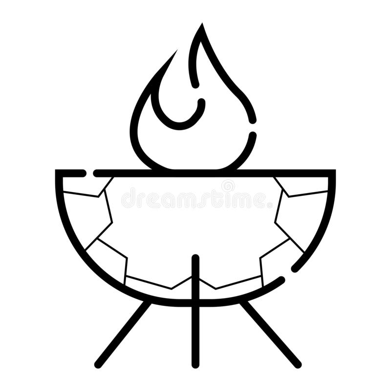 Icona all'aperto di vettore della griglia illustrazione vettoriale