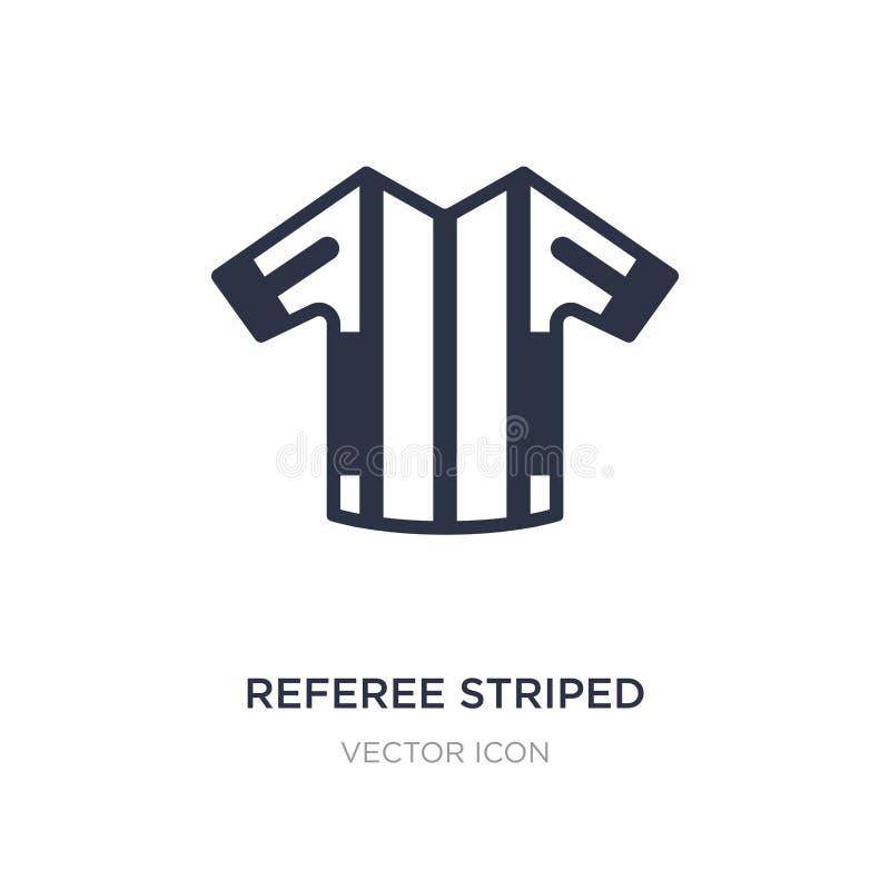 icona allegra a strisce della maglietta dell'arbitro su fondo bianco Illustrazione semplice dell'elemento dal concetto di footbal illustrazione vettoriale