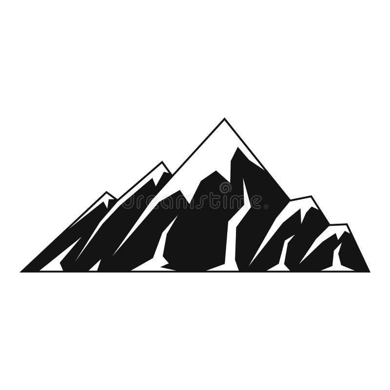 Icona alpina della montagna, stile semplice royalty illustrazione gratis