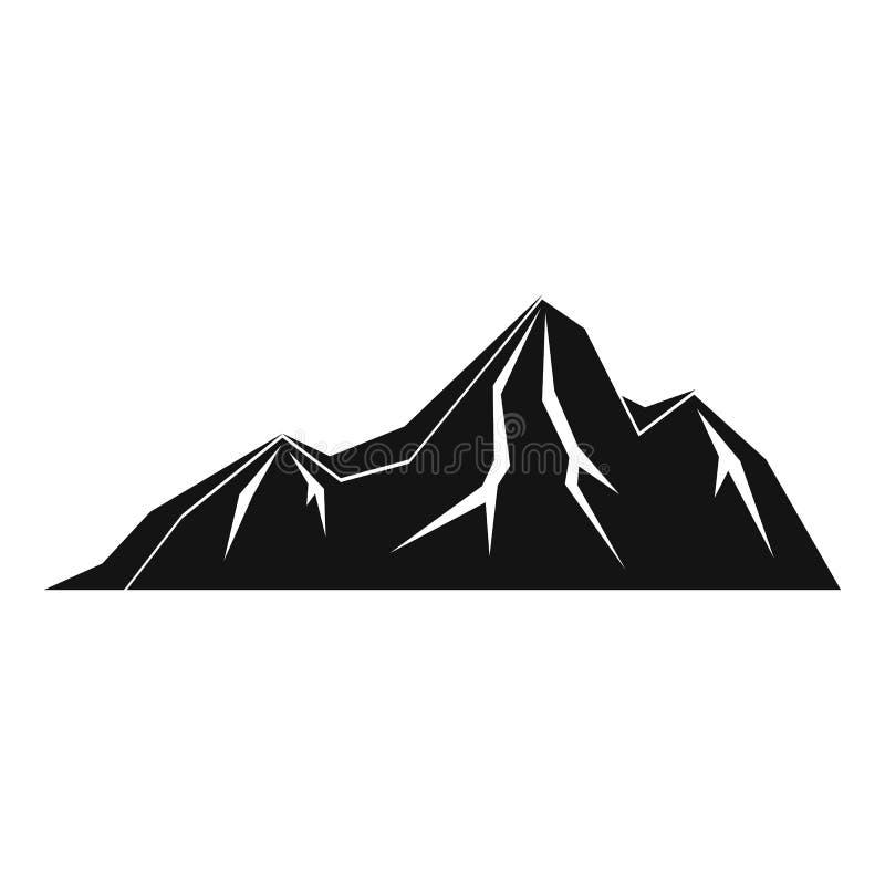 Icona alta della montagna, stile semplice illustrazione di stock