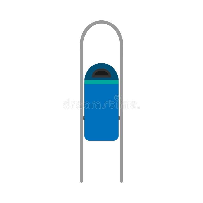 Icona ambientale di vettore di riutilizzazione di inquinamento blu del secchio della spazzatura della via L'industria di eco dell illustrazione vettoriale