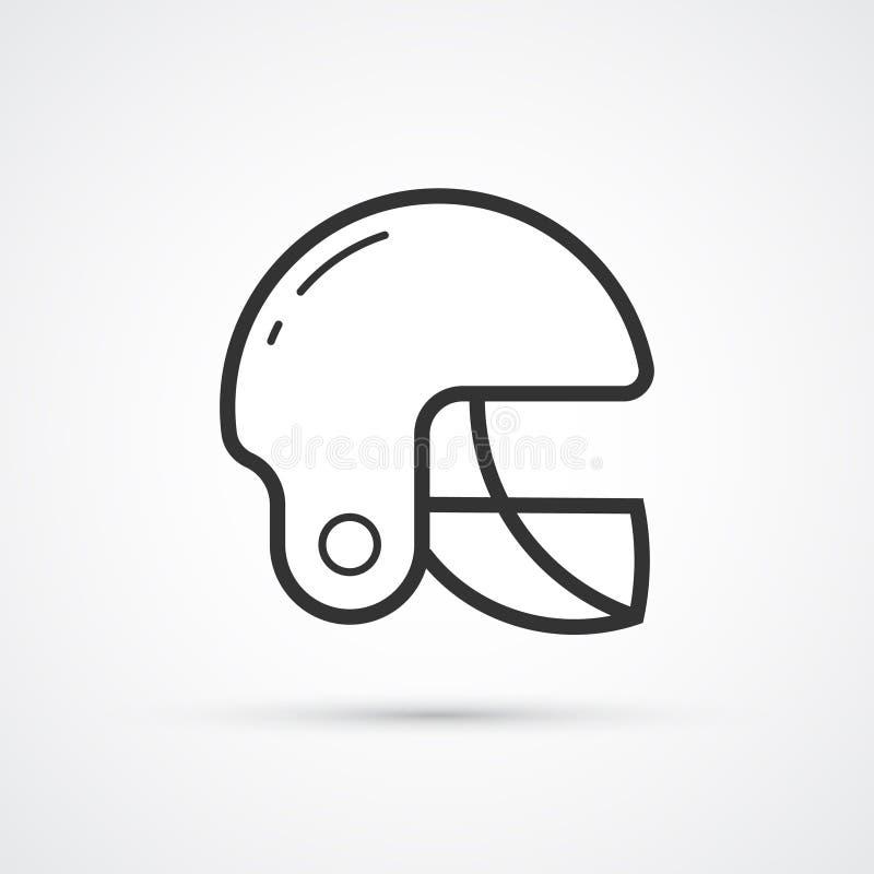 Icona americana di sport del casco di calcio Vettore eps10 royalty illustrazione gratis