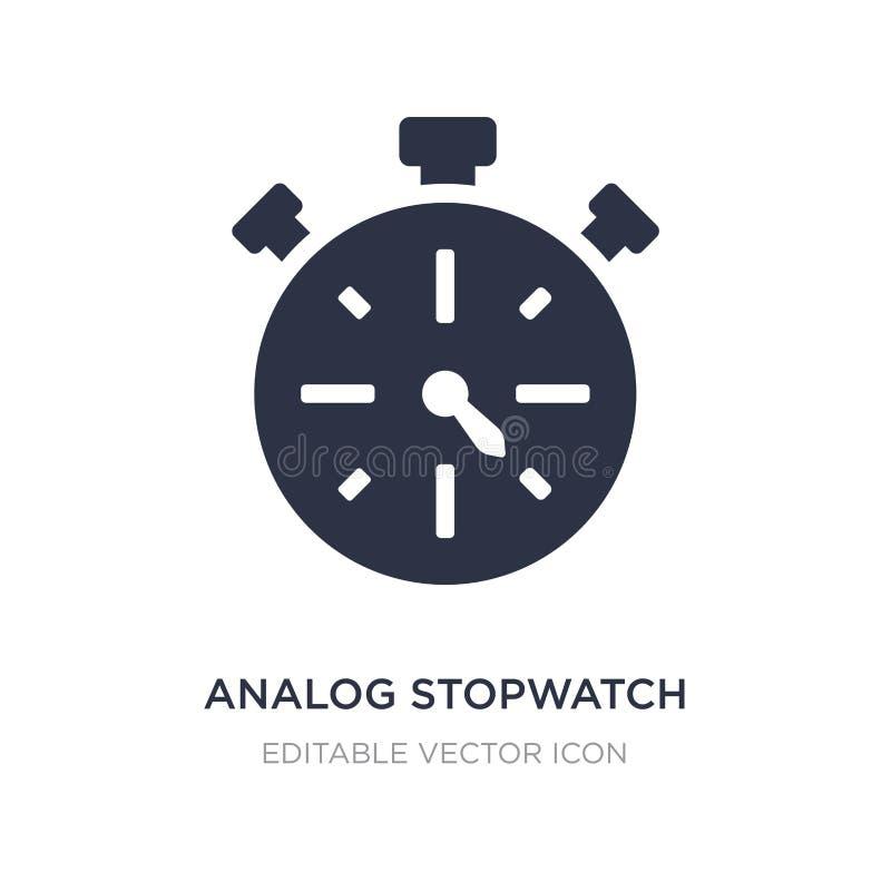 icona analogica del cronometro su fondo bianco Illustrazione semplice dell'elemento dal concetto generale royalty illustrazione gratis