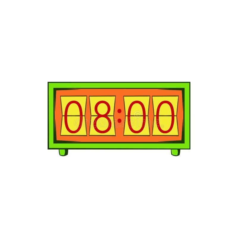 Icona analogica dell'orologio di vibrazione, stile del fumetto illustrazione di stock