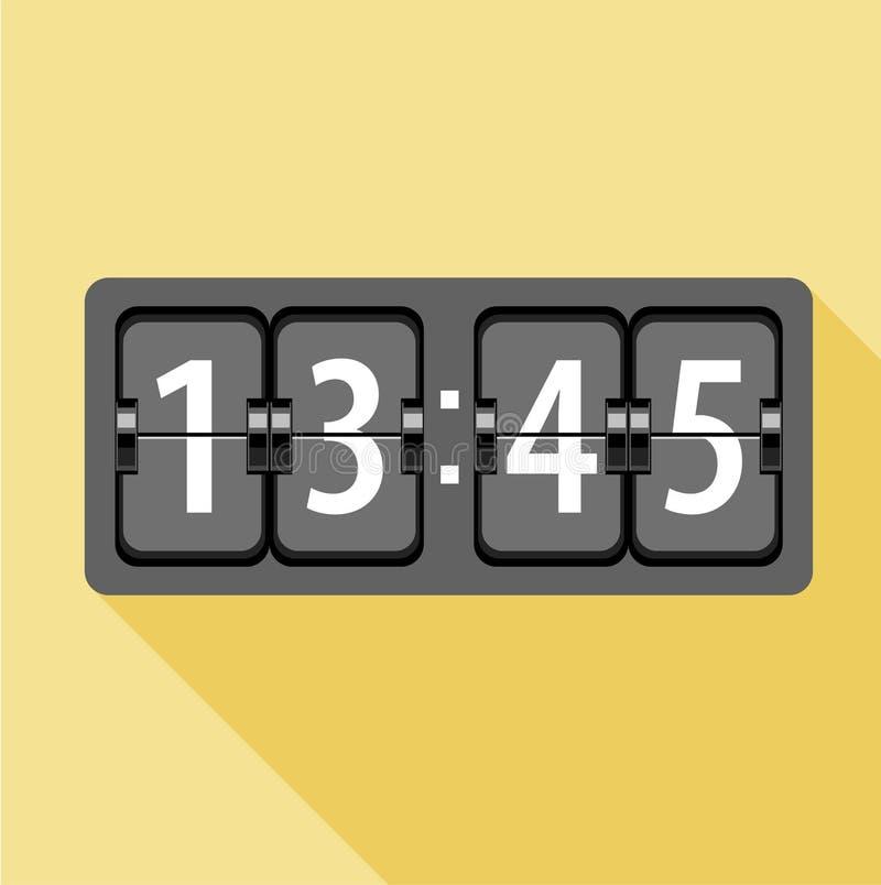 Icona analogica dell'orologio di vibrazione, stile piano royalty illustrazione gratis
