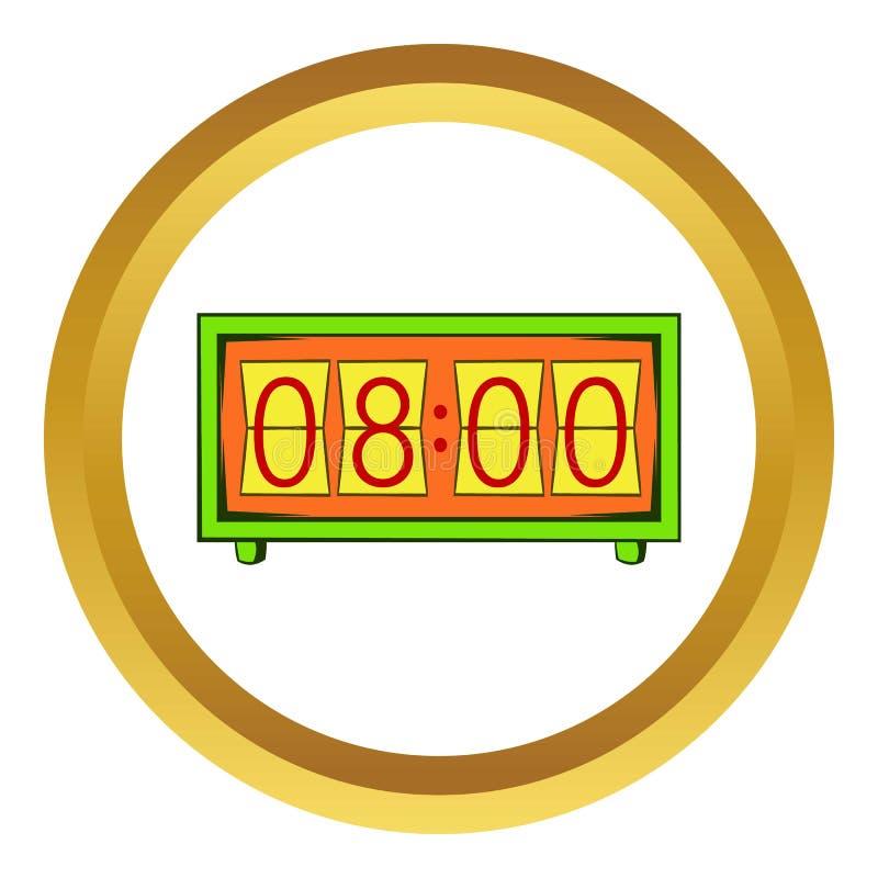 Icona analogica di vettore dell'orologio di vibrazione, stile del fumetto illustrazione vettoriale