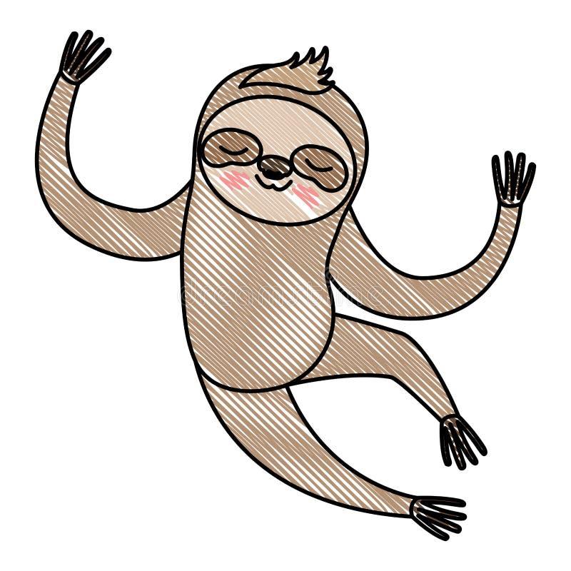 Icona animale di bradipo selvaggio illustrazione vettoriale