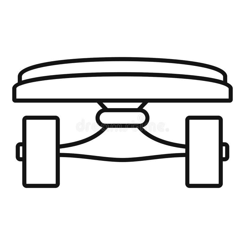 Icona anteriore del pattino, stile del profilo illustrazione vettoriale