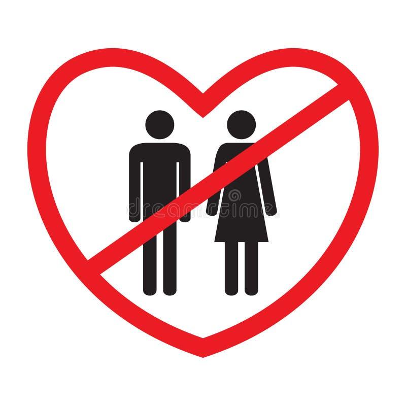 icona Anti-eterosessuale illustrazione di stock
