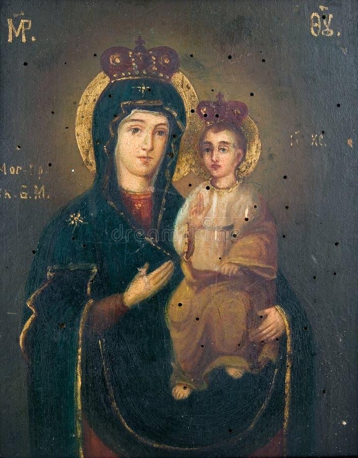 Icona antica della chiesa fotografia stock